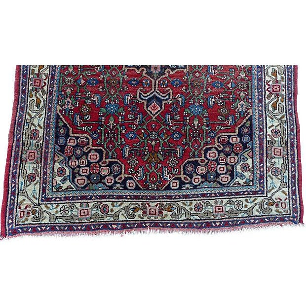 "Persian Bijar Rug - 4'10"" X 3'5"" For Sale - Image 5 of 6"