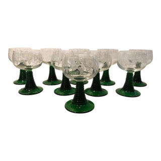 1960s Vintage Luminarc French Wine Glasses - Set of 10 For Sale