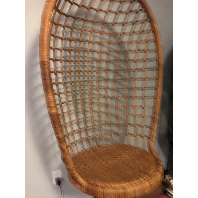 Ficks Reed Mid-Century Ficks and Reed Style Bamboo Hanging Chair For Sale - Image 4 of 10