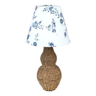 1980s Vintage Rope Table Lamp For Sale