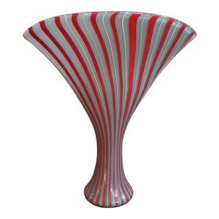 Mid Century Art Glass Vase For Sale
