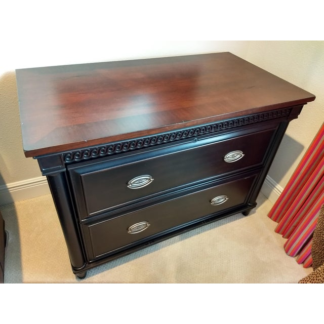 Elegant Two-Drawer Lateral File Cabinet Credenza - (ASPENHOME: Young Classics office collection). Two File Drawers...