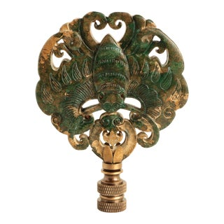 Asian Butterfly Lamp Finial For Sale