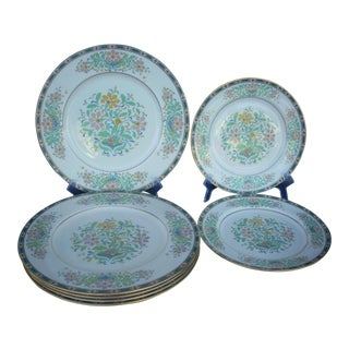 "Vintage Lenox ""Mystic"" China Plates - Set of 7"
