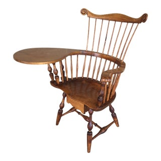 Virginia Craftsman Reproductions Windsor Single Drawer Writing Desk Chair For Sale