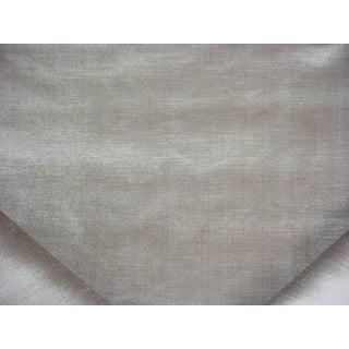 Traditional Ralph Lauren Vanderbilt Velvet Pearl Grey Upholstery Fabric - 12-1/8y For Sale