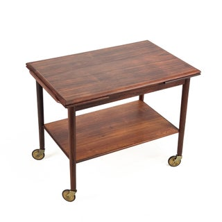 Vintage Mid Century Danish Rosewood Trolley Preview