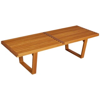 Brazilian Pau Marfim and Caviúna Slatted Bench or Coffee Table For Sale