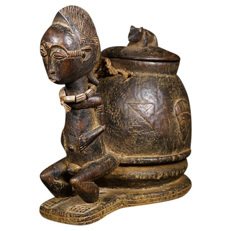 Baule African Tribal Divination Bowl - Image 1 of 11