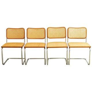 Marcel Breuer Italian Cesca Chairs - Set of 4