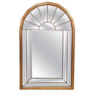 Hollywood Regency Palladian Window Style Mid Century Modern Mirror For Sale