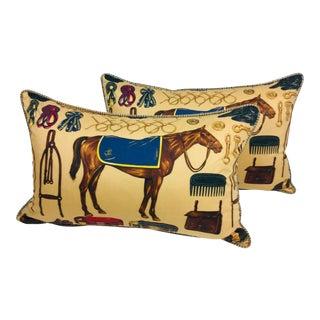Ralph Lauren Equestrian Lumbar Pillows – a Pair For Sale