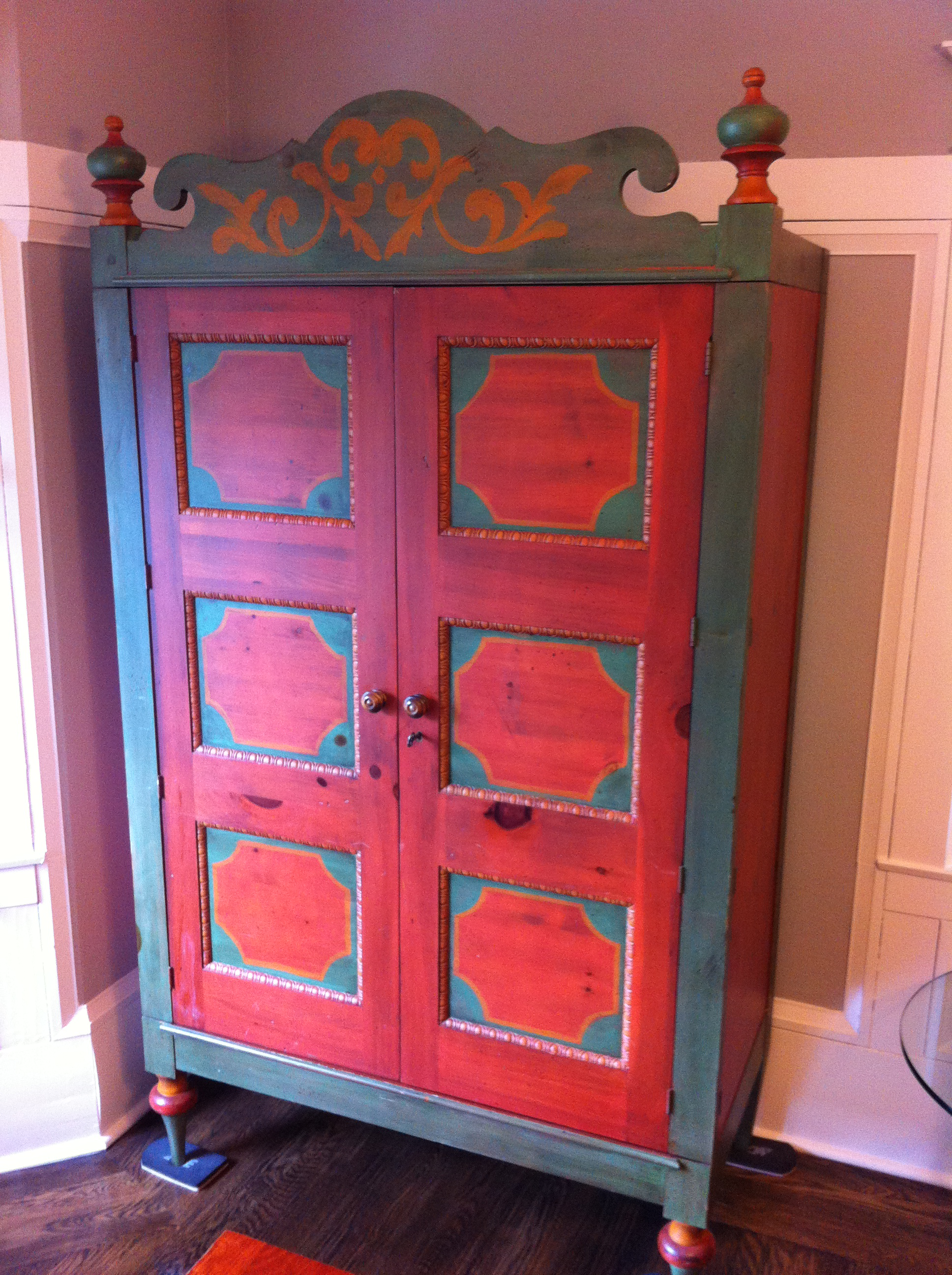 Romweber Painted Knotty Pine Armoire   Image 2 Of 5