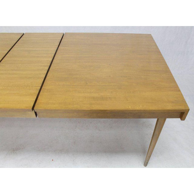 Edmond J. Spence Edmond J. Spence Swedish Blond Birch Dining Table W/ Two Extension Leafs For Sale - Image 4 of 11