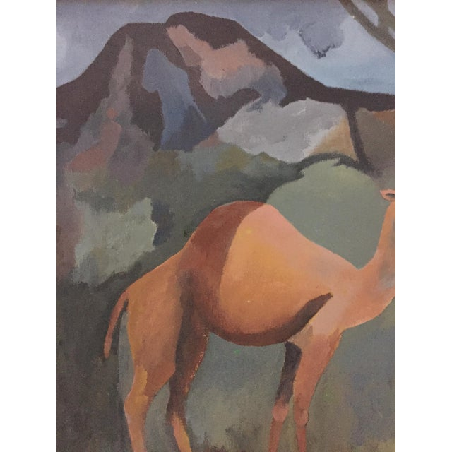 Mid-Century Camel Oil Painting - Image 3 of 7