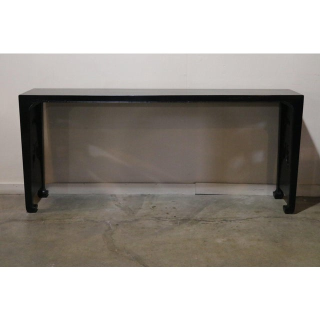 Black lacquer altar table from Shanxi Province China 19th c.