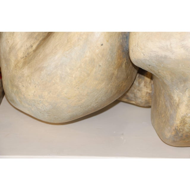 Mid 20th Century 1950s Plaster Figurative Sculpture Purchased at a Nyc Gallery For Sale - Image 5 of 10