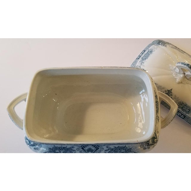 Ceramic 1910s French Transferware Lidded Tureen For Sale - Image 7 of 9