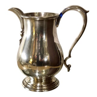 Superb Art Deco Sterling Silver Water Pitcher by Gumps - San Francisco 1044 Grams For Sale