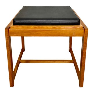 Reversible Mid Century Modern End Table Stool by Erik Buck for Od Mobler For Sale
