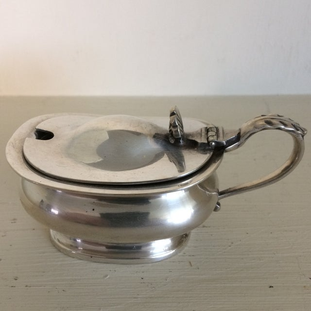 1930s 1930s Furness Bermuda Lines Silver Salt Cellar With Glass Liner and Spoon For Sale - Image 5 of 13