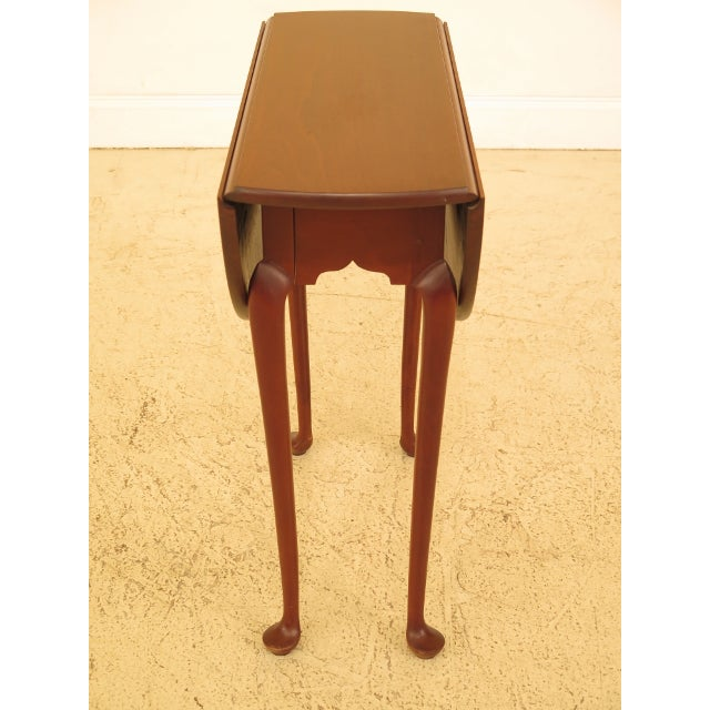Eldred Wheeler Cherry Queen Anne Drop Leaf Occasional Table - Image 3 of 13