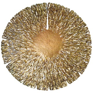 Asian Modern Fabio Ltd Bronze and Gold Iron Seaweed Wall Sculpture For Sale