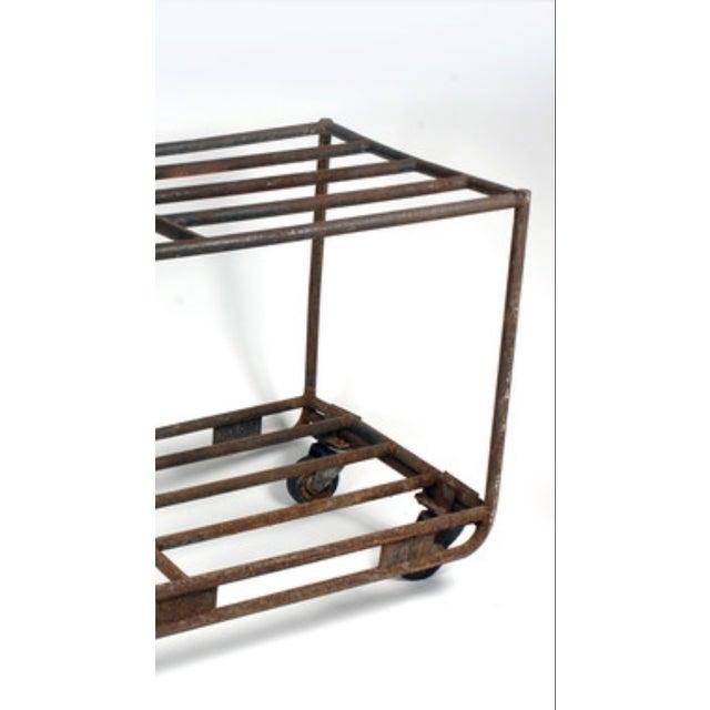 Industrial Vintage European Industrial Rolling Cart For Sale - Image 3 of 3