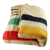 Image of Vintage Hudson Bay Blanket For Sale