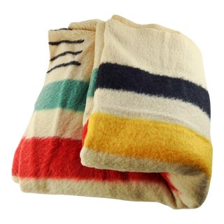 Vintage Hudson Bay Blanket For Sale