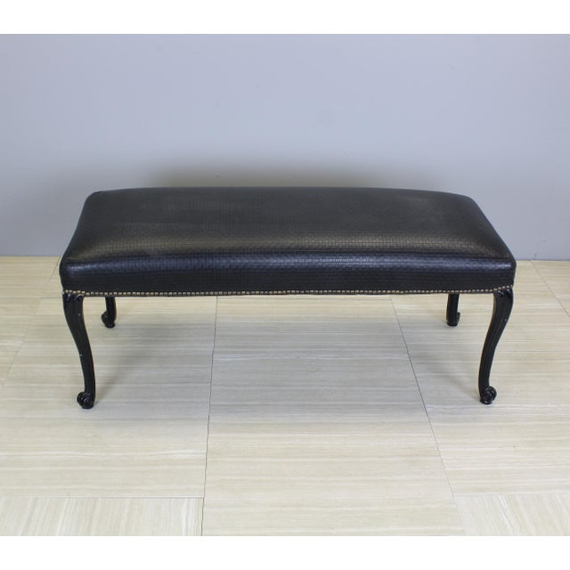Vintage Queen Ann Style Bench - Image 4 of 4