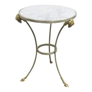 Directoire Rams Head Marble Top Gueridon Table For Sale
