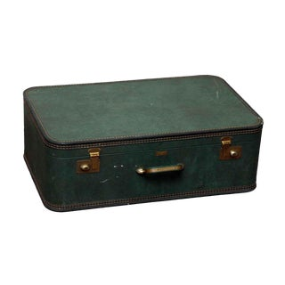 JC Higgins Green Suitcase