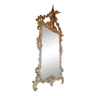 Chinese Chippendale Hand Carved Mirror - a Pair For Sale