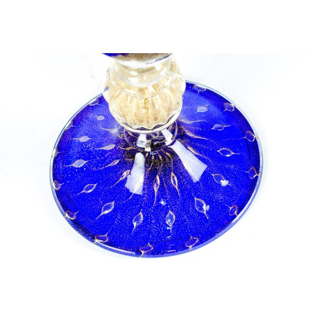 Late 20th Century Late 20th Century Murano Glass Gold Fleck Deco Vase For Sale - Image 5 of 6