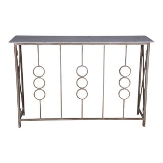 Contemporary Monterey Entryway Metal Console Table For Sale