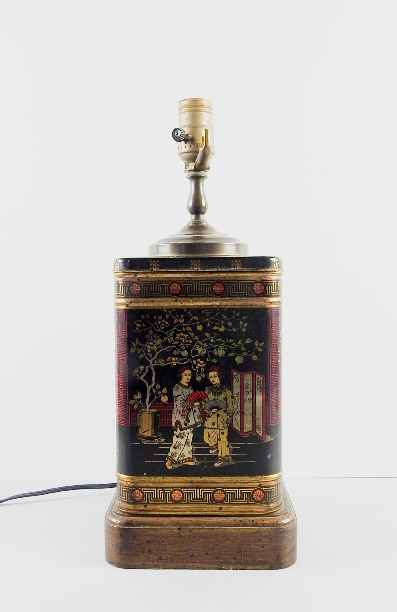 Wildwood Chinoiserie Tea Tin Table Lamp   Image 2 Of 5