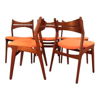 Vintage Danish Modern Model 310 Teak Dining Chairs - Set of 5