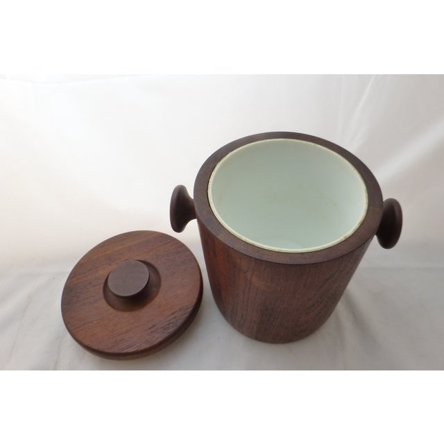1950's Danish Modern Teak Ice Bucket For Sale - Image 9 of 10