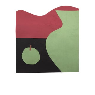 Vase and Apple Modern Collage by James Bone For Sale