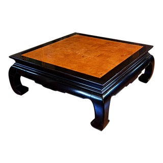 Ethan Allen Ming Dynasty Style Square Cocktail Table For Sale