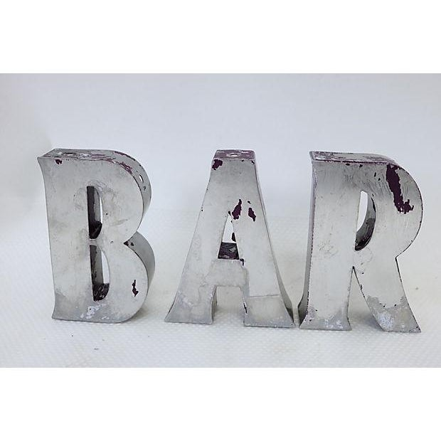 """Vintage English """"Bar"""" Marquee Letters - Image 2 of 4"""