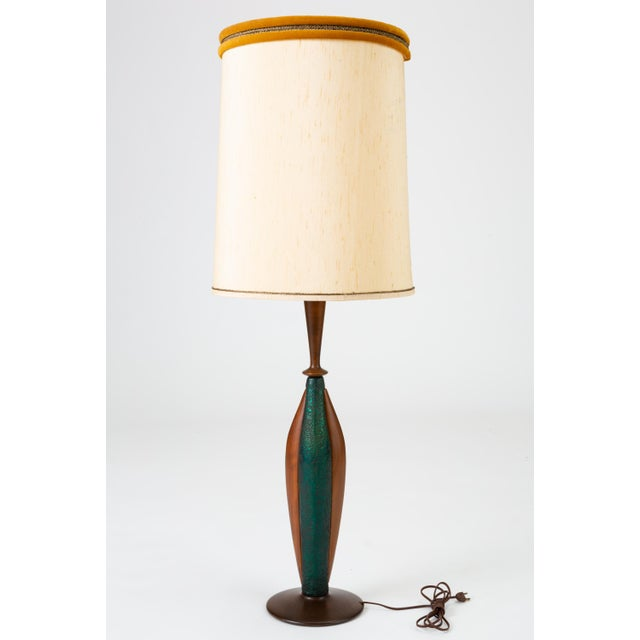 Tall Table Lamps in Walnut and Resin by Moderna - a Pair For Sale - Image 4 of 13