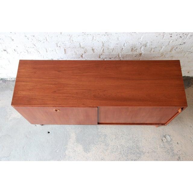 Brown Danish Modern Teak Sideboard Credenza For Sale - Image 8 of 10