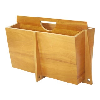 Large Mid-Century Magazine Rack For Sale
