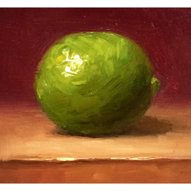 Small Lime Oil Painting - Image 2 of 2