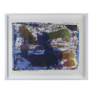 """1960s """"Serigraph 17"""" Abstract Print by Paul Chidlaw, Framed For Sale"""