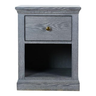 Pottery Barn Charlie Nightstand in Smoked Charcoal For Sale