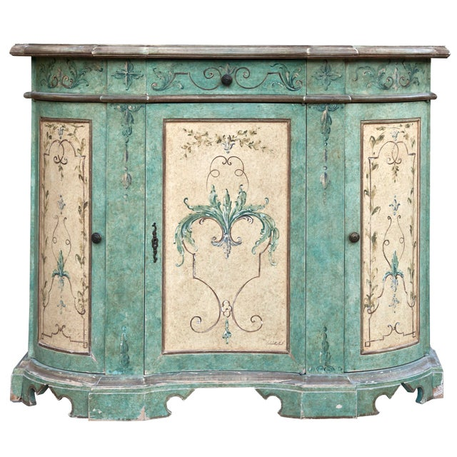 Italian Hand Painted Cabinet For Sale