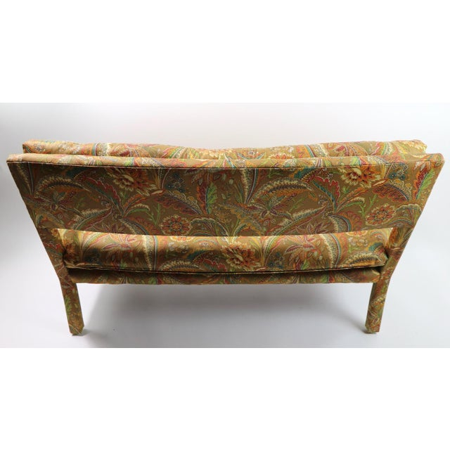Mid-Century Modern Groovy All Upholstered Bench by Classic Gallery Inc. After Baughman For Sale - Image 3 of 12